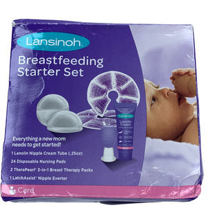 Lansinoh Breastfeeding Starter Kit Exp 5/2023 New